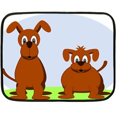 Animals Dogs Mutts Dog Pets Double Sided Fleece Blanket (mini)