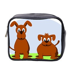 Animals Dogs Mutts Dog Pets Mini Toiletries Bag 2 Side