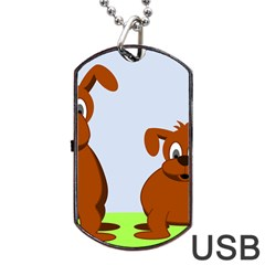 Animals Dogs Mutts Dog Pets Dog Tag Usb Flash (one Side)