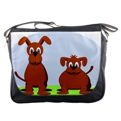 Animals Dogs Mutts Dog Pets Messenger Bags
