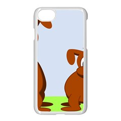 Animals Dogs Mutts Dog Pets Apple Iphone 7 Seamless Case (white)