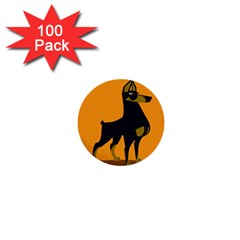 Illustration Silhouette Art Mammals 1  Mini Buttons (100 Pack)