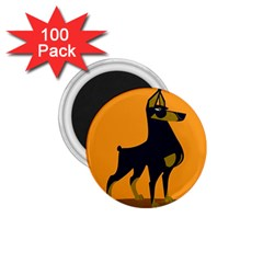Illustration Silhouette Art Mammals 1 75  Magnets (100 Pack)