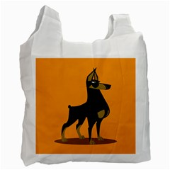 Illustration Silhouette Art Mammals Recycle Bag (one Side)