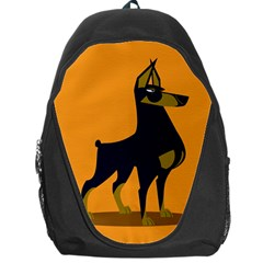 Illustration Silhouette Art Mammals Backpack Bag