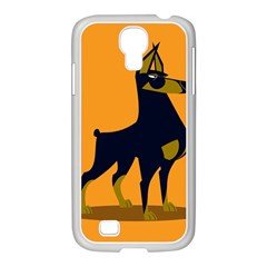 Illustration Silhouette Art Mammals Samsung Galaxy S4 I9500/ I9505 Case (white)