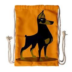 Illustration Silhouette Art Mammals Drawstring Bag (large)
