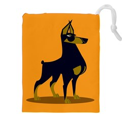 Illustration Silhouette Art Mammals Drawstring Pouches (xxl)