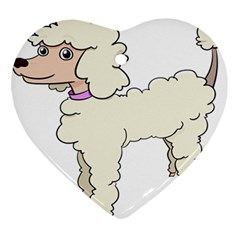 Poodle Dog Breed Cute Adorable Ornament (heart)