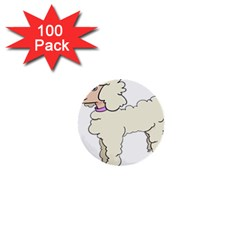 Poodle Dog Breed Cute Adorable 1  Mini Buttons (100 Pack)