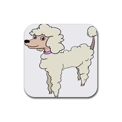 Poodle Dog Breed Cute Adorable Rubber Coaster (square)