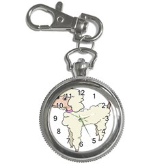 Poodle Dog Breed Cute Adorable Key Chain Watches