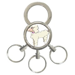 Poodle Dog Breed Cute Adorable 3 Ring Key Chains