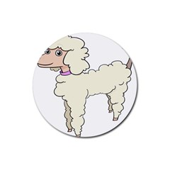 Poodle Dog Breed Cute Adorable Rubber Coaster (round)