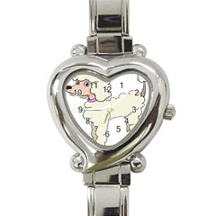 Poodle Dog Breed Cute Adorable Heart Italian Charm Watch