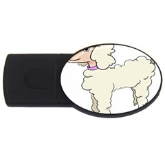 Poodle Dog Breed Cute Adorable Usb Flash Drive Oval (4 Gb)
