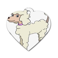 Poodle Dog Breed Cute Adorable Dog Tag Heart (two Sides)