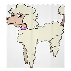 Poodle Dog Breed Cute Adorable Shower Curtain 66  X 72  (large)