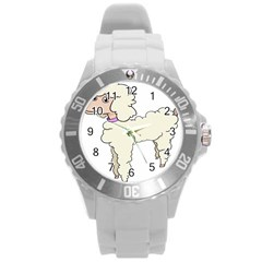 Poodle Dog Breed Cute Adorable Round Plastic Sport Watch (l)