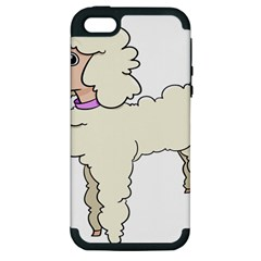 Poodle Dog Breed Cute Adorable Apple Iphone 5 Hardshell Case (pc+silicone) by Nexatart
