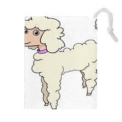 Poodle Dog Breed Cute Adorable Drawstring Pouches (extra Large)