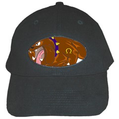 Bulldog Cartoon Angry Dog Black Cap