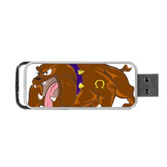Bulldog Cartoon Angry Dog Portable Usb Flash (two Sides)