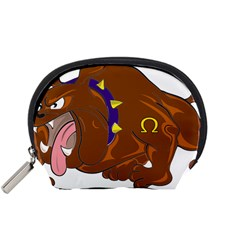 Bulldog Cartoon Angry Dog Accessory Pouches (small)