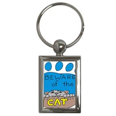 Cat Print Paw Pet Animal Claws Key Chains (rectangle)