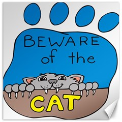 Cat Print Paw Pet Animal Claws Canvas 12  X 12