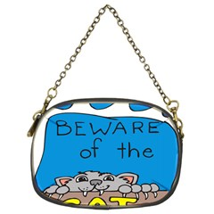 Cat Print Paw Pet Animal Claws Chain Purses (two Sides)  by Nexatart