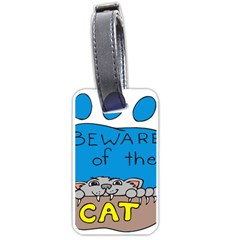 Cat Print Paw Pet Animal Claws Luggage Tags (one Side)