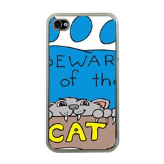 Cat Print Paw Pet Animal Claws Apple Iphone 4 Case (clear)