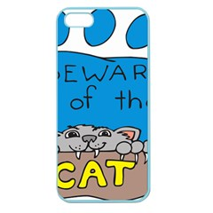 Cat Print Paw Pet Animal Claws Apple Seamless Iphone 5 Case (color)