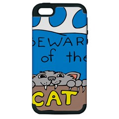 Cat Print Paw Pet Animal Claws Apple Iphone 5 Hardshell Case (pc+silicone)
