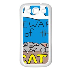 Cat Print Paw Pet Animal Claws Samsung Galaxy S3 Back Case (white)