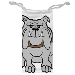 Gray Happy Dog Bulldog Pet Collar Jewelry Bags