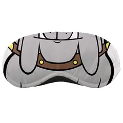 Gray Happy Dog Bulldog Pet Collar Sleeping Masks
