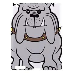Gray Happy Dog Bulldog Pet Collar Apple Ipad 3/4 Hardshell Case