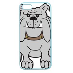 Gray Happy Dog Bulldog Pet Collar Apple Seamless Iphone 5 Case (color)