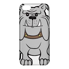 Gray Happy Dog Bulldog Pet Collar Apple Iphone 5c Hardshell Case