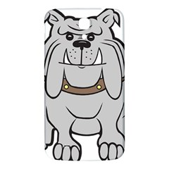 Gray Happy Dog Bulldog Pet Collar Samsung Galaxy Mega I9200 Hardshell Back Case
