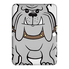 Gray Happy Dog Bulldog Pet Collar Samsung Galaxy Tab 4 (10 1 ) Hardshell Case