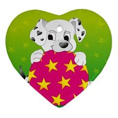 Dalmatians Dog Puppy Animal Pet Ornament (heart)