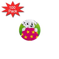 Dalmatians Dog Puppy Animal Pet 1  Mini Magnets (100 Pack)