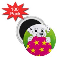 Dalmatians Dog Puppy Animal Pet 1 75  Magnets (100 Pack)
