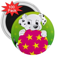 Dalmatians Dog Puppy Animal Pet 3  Magnets (100 Pack)