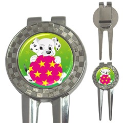 Dalmatians Dog Puppy Animal Pet 3 In 1 Golf Divots by Nexatart