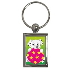 Dalmatians Dog Puppy Animal Pet Key Chains (rectangle)