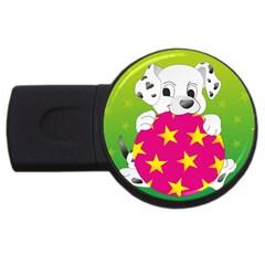 Dalmatians Dog Puppy Animal Pet Usb Flash Drive Round (2 Gb)